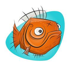 goldfisch cartoon fisch lustig