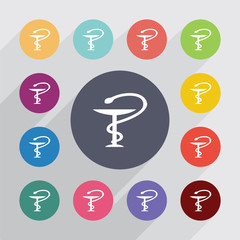 medical sign, flat icons set