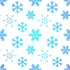 Winter ornate snowflakes decorative seamless pattern