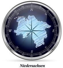 Niedersachsen mit Grenzen