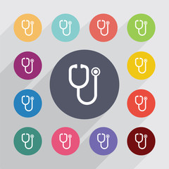 medical symbol, flat icons set