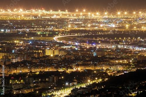 canvas print picture Die Lichter der Stadt I