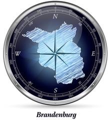 Brandenburg mit Grenzen
