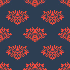 Seamless floral pattern with arabesque elements
