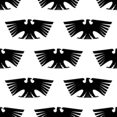 Seamless pattern of Imperial eagle