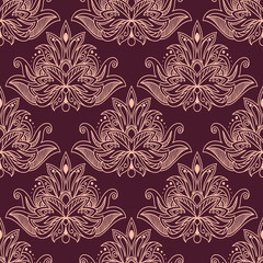 Persian seamless floral pattern