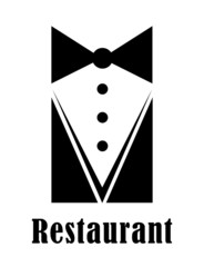 Restaurant badge or sign