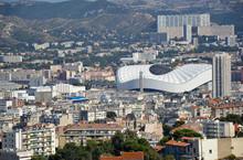 Marsylia - widok z nowego stadionu Velodrome