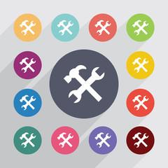 repair, flat icons set