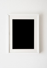empty white frame