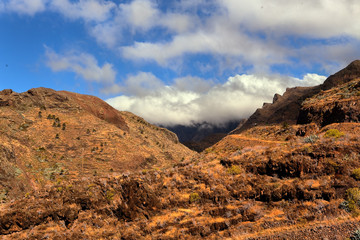 mountain landscape of the island of La Gomera. Canary Islands. S