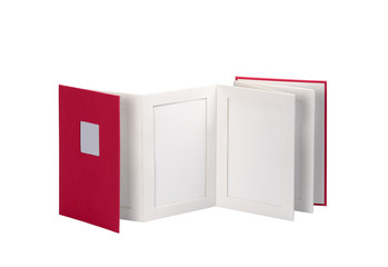 Blank book, photo album isolated on a white background