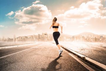 girl_running far from the city