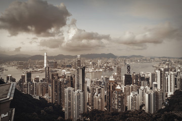 Hong Kong landascape from victoria peak side