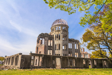 Atomic bomb ruins in Hiroshima Japan