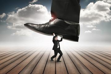 businessmen get overridden by underfoot