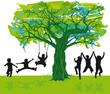 Kinder unterm Baum