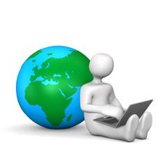 Manikin Laptop Globe