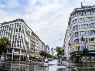Dusseldorf, Germany, on July 6, 2014. Typical urban view