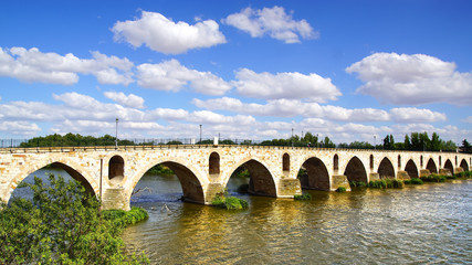Medieval bridge over river Duero.