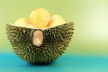 Close up of durian fruit