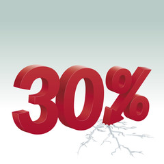 30% off. Poster to advertise sales