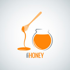 honey jar pot glass background