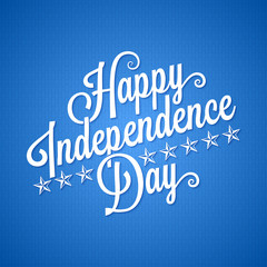 independence day vintage lettering background