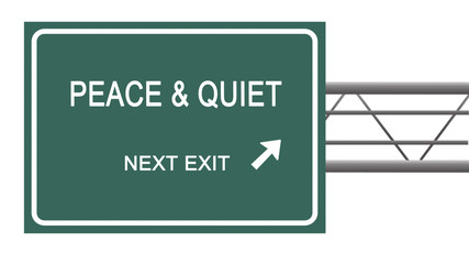 Road sign to peace and quiet