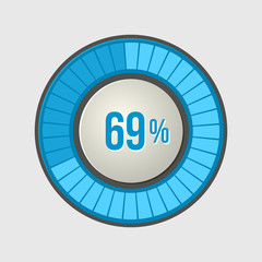 Ring Loading Progress Bar on Light Background. Vector