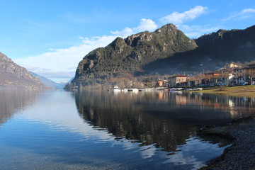 View of Lake Idro, Italy