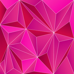 Fondo abstracto con triángulos en relieve de color fucsia