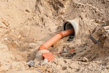 Bauarbeiten am Abwassernetz
