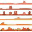 Set of America Desert Landscape - 68067495