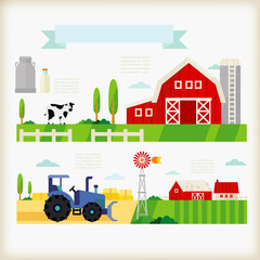 info-graphics of farm