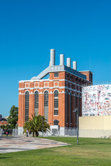 Old thermoelectric power-plant in Belem, Lisbon (Portugal)