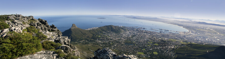 Cape town aerial wide view