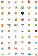 Big animals icon set
