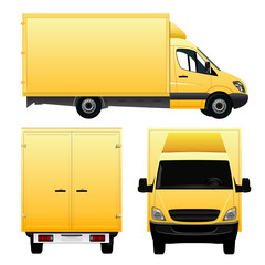 Yellow Cargo Van - Truck