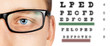 Male eye and eyesight test