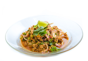spicy minced meat salad