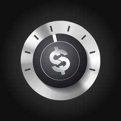 Knob - business concept