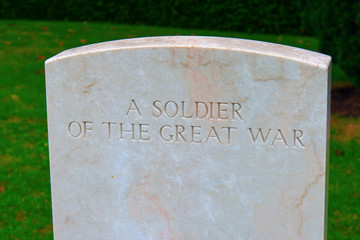 A soldier of the great war Bedford house cemetery.