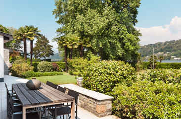 Beautiful patio of a villa