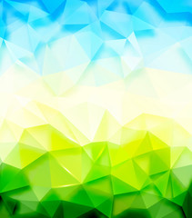 Triangle nature background