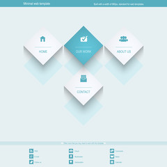 Minimal Web Template for corporate or portfolio site