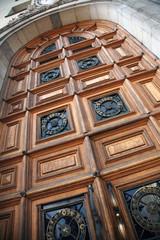Doors, facade, house, architecture