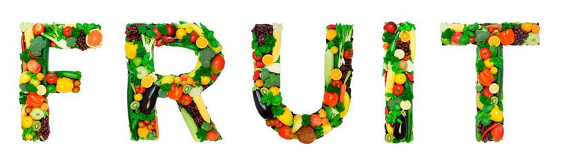 Healthy alphabet - FRUIT
