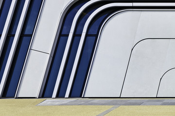 Futuristic and abstract modern Architecture Background