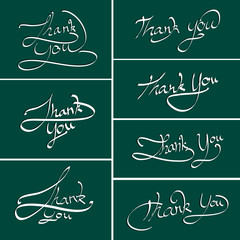 Thank you hand lettering. Handmade calligraphy